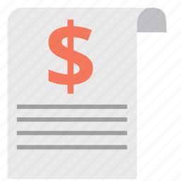 agreement, contract, document, dollar, guarantee, invoice, sheet icon