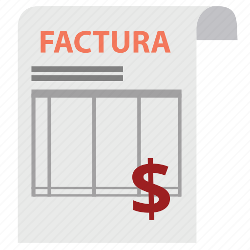bill, check, factura, invoice, money, order, payment icon