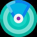 application, find my, radar, device icon
