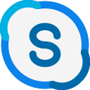 application, skype, videocall, chat icon