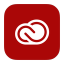 adobe, cloud, creative, metroui icon