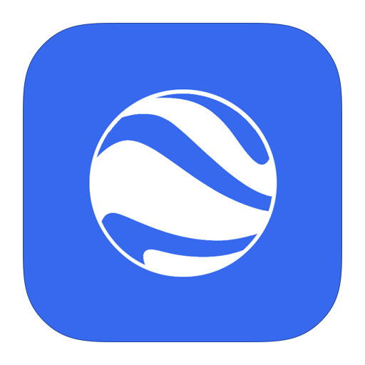 earth, flurry, google icon