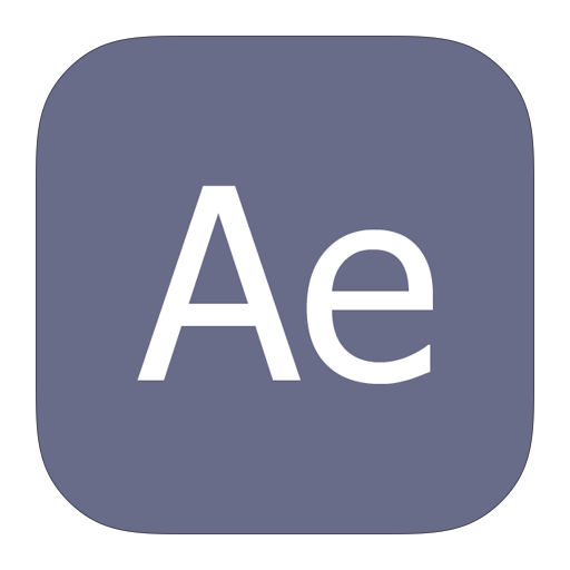 adobe, after, effects, metroui icon