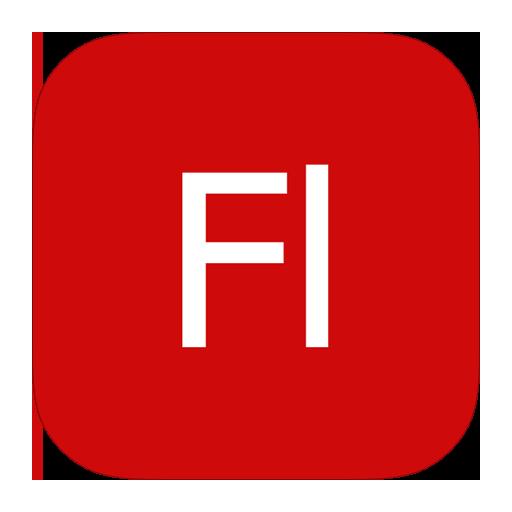 adobe, flash, metroui icon