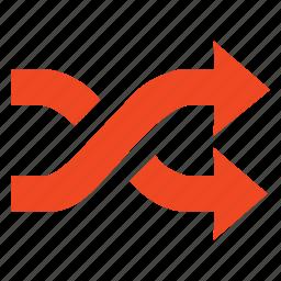 arrow, arrows, direction, refresh, shuffling, suffle icon