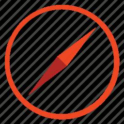 arrow, circle, compas, compass, direction, location, marker, navigate, navigation, pin icon