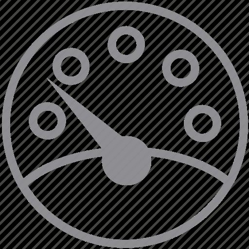dashboard, gauge, measure, measurement, meter, ruler, speedometer icon
