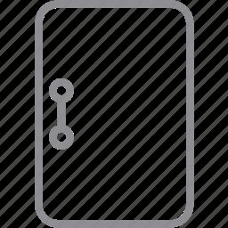 close, closed door, doorway, entrance, exit, log out, logout icon