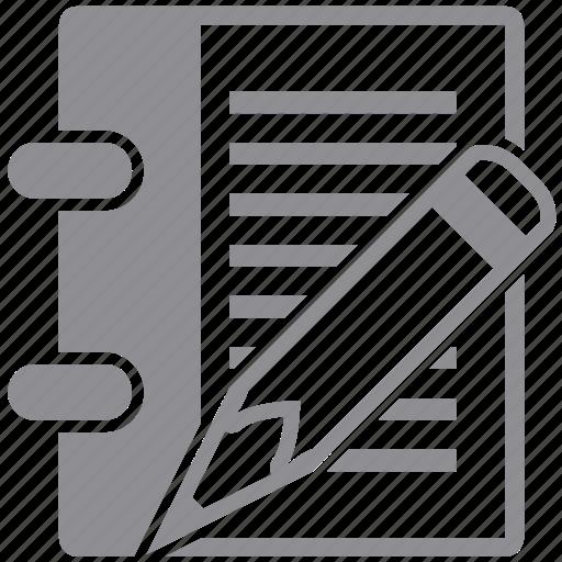 Document, edit, paper, pen, pencil, record, write icon ...
