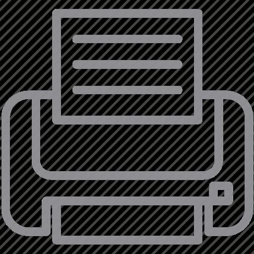 hardcopy, hardware, output, print files, printer, printing, publish icon