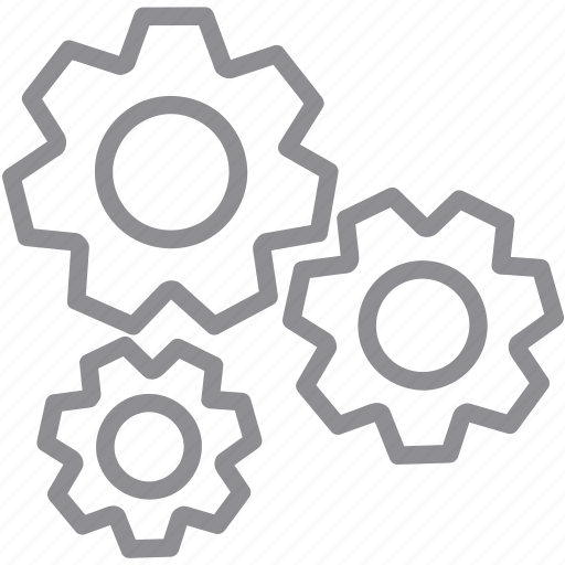 application tools, control center, desktop settings, gear box, machine, system configuration, transmission gears icon