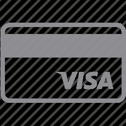 bank card, debit card, finance, money, payment, plastic, visa icon