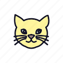 animal, cat, cat-head, emotion, face, head, smiley icon