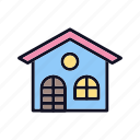 apartment, building, home, house, office, property, villa icon