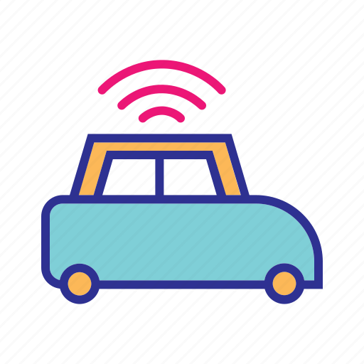 internet, internet of things, iot, smart car, vehicle, wifi icon