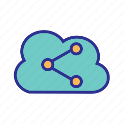 backup, cloud network, cloud storage, internet of things, iot, share icon