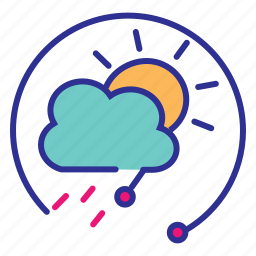 climate, internet of things, iot, rain sensor, weather forecast, weather monitoring, weather reporting icon