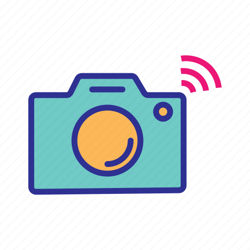 camera, internet of things, iot, smart camera, wifi camera, wireless camera icon