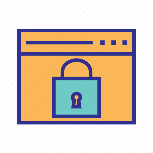 network security, privacy, safe, safe browsing, secured browsing, secured website icon