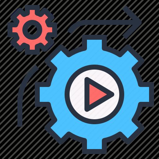 automation, equipment, machine, process, production icon