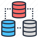 big, computer, data, database, information icon