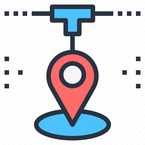 connected, everywhere, location, map, pin, track icon