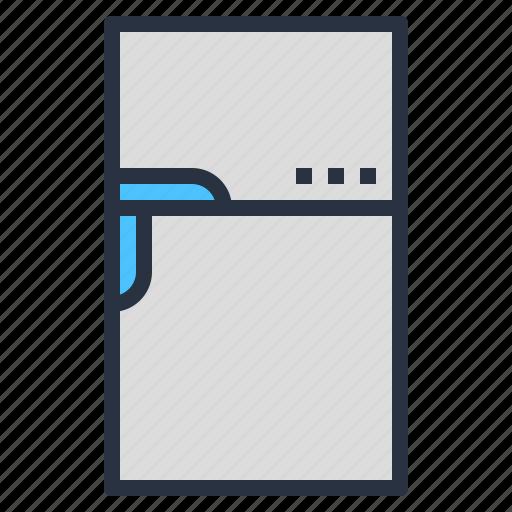 appliance, electric, internet, refrigerator, smart, technology icon