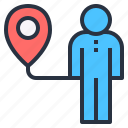 locating, person, position, system, tracking icon
