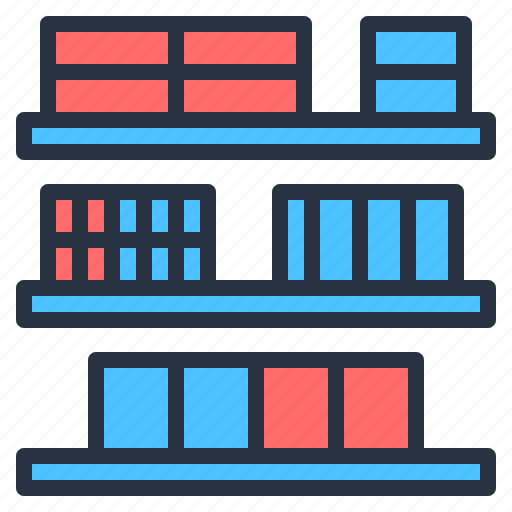chain, goods, logistics, management, store, supply icon