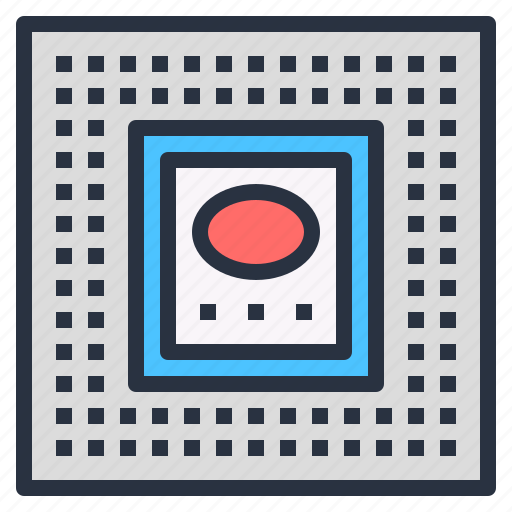 Circuit, computer, cpu, die, integrated, microprocessor icon - Download on Iconfinder
