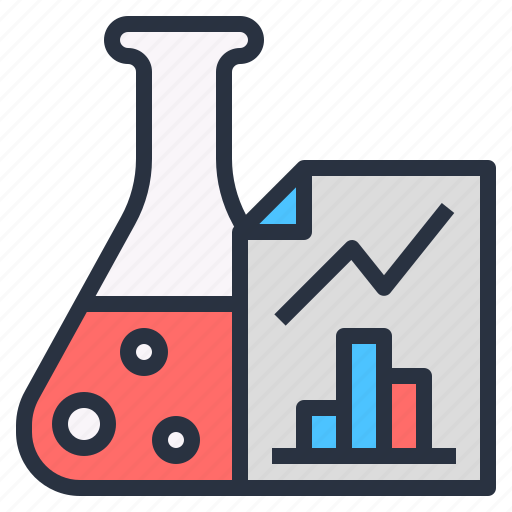 analyze, graph, investigation, research, result, study icon