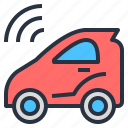 automatic, car, drive, driverless, self, technology, vehicle icon