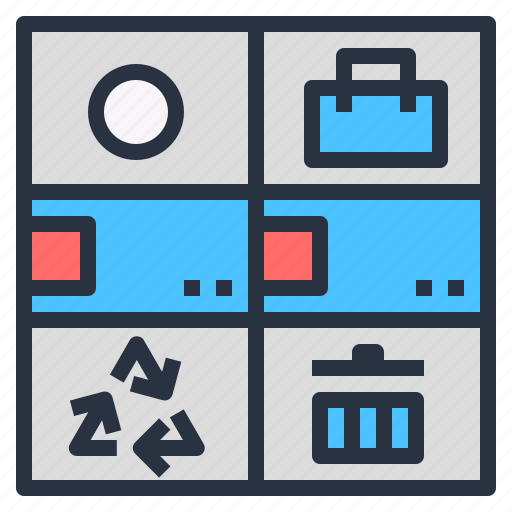 accessories, business, can, internet, smart, trash icon