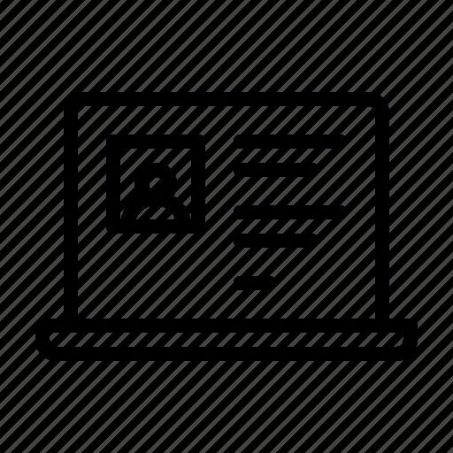 electronics, equipment, iot, media, notebook, profile, social icon
