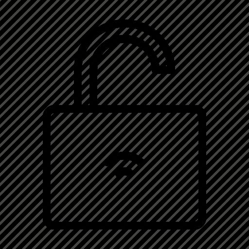 electronics, equipment, hardware, iot, smart, unlock, wifi icon