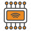 chip, internet of things, iot, wifi icon