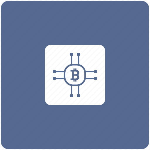 bitcoin, chip, chipset, payment, transfer icon