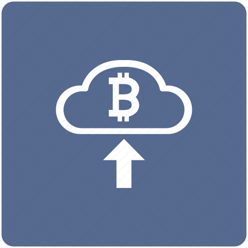 bitcoin, blockchain, cash, cloud, in, money, transfer icon