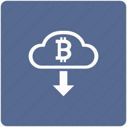 bitcoin, cash, cloud, money, out, transfer icon