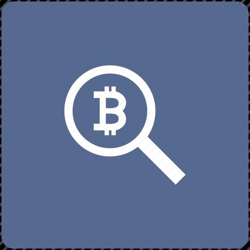 bitcoin, find, money, search, transfer icon