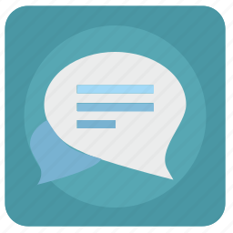 app, comment, dialog, im, message, write icon