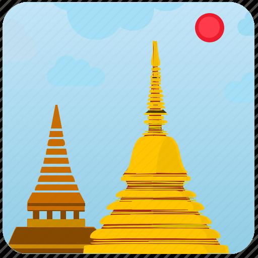 building, culture, laos, picture, tourism icon