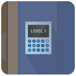 access, door, enter, home, house, level, password icon