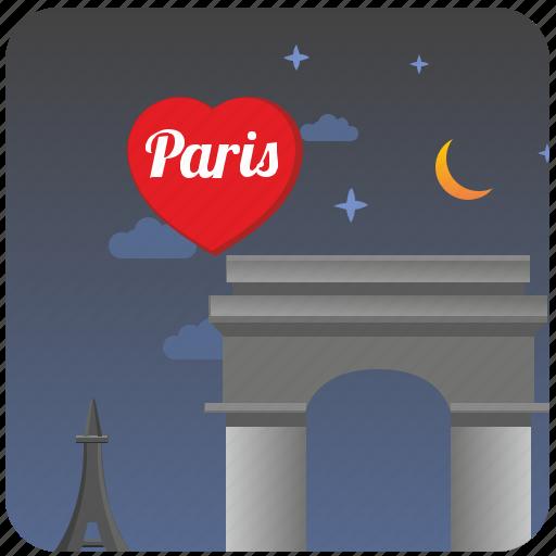 center, culture, love, night, paris, romantic icon