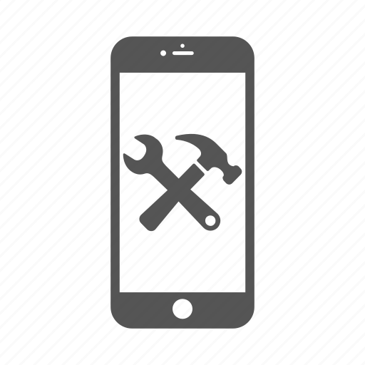 android, fix, iphone, phone, repair, reparation, wrench icon
