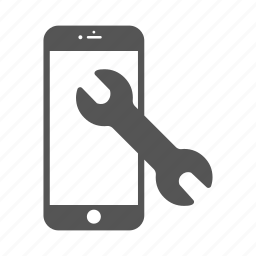 android, iphone, mobile, phone, repair, reparation, wrench icon
