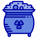 clover, coin, gold, patrick, pot, st icon