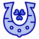 clover, golden, horseshoe, luck icon