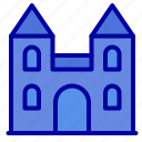 big, cathedral, church, cross