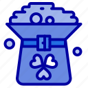 clover, coin, green, hat, in icon